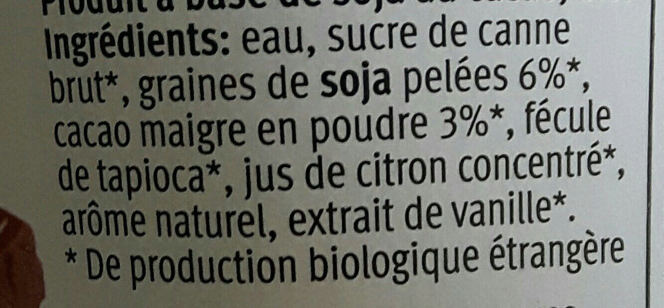 Bio Soja Soyog Choco - Ingrédients - fr