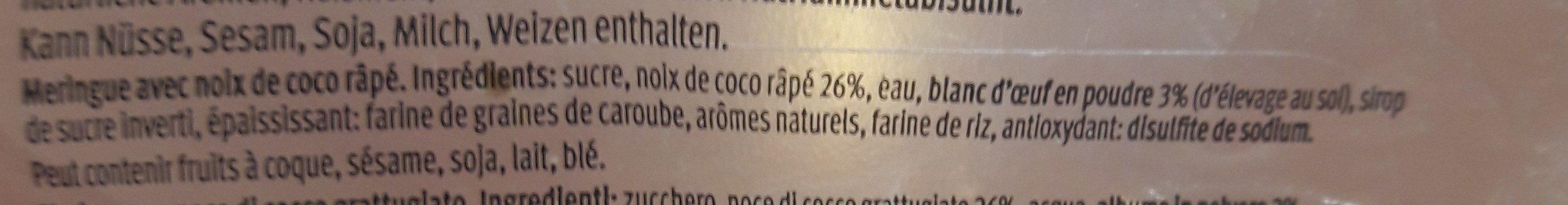 Macarons à la Noix de Coco - Ingrédients - fr