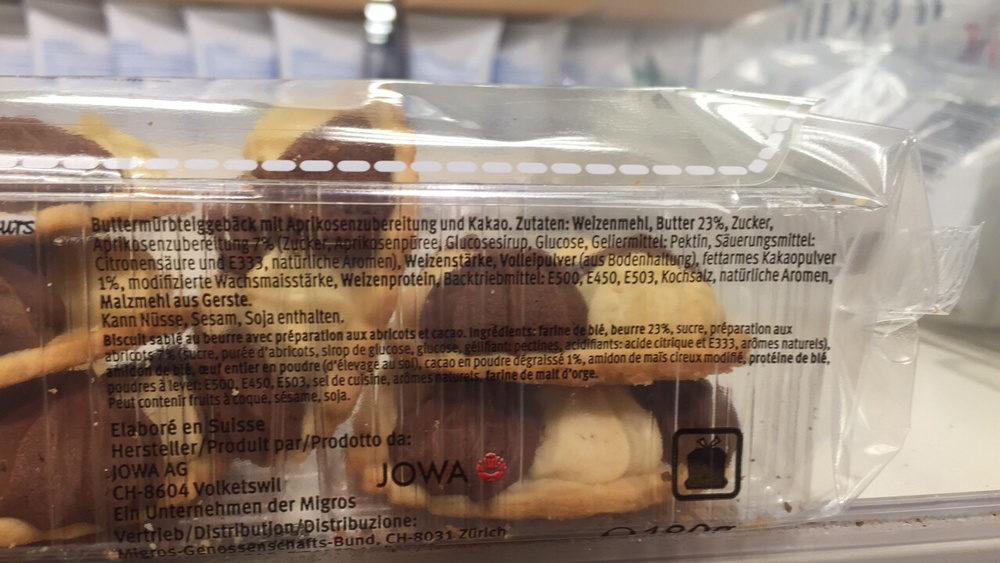 Marmor-butter-rosetten - Ingredienti - fr