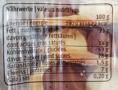 Marmor-butter-rosetten - Informazioni nutrizionali - fr