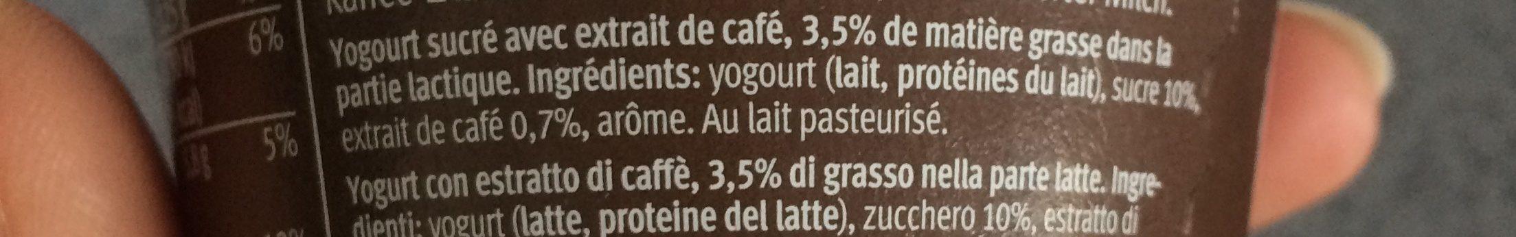 Yogurt Moca - Ingredienti - fr