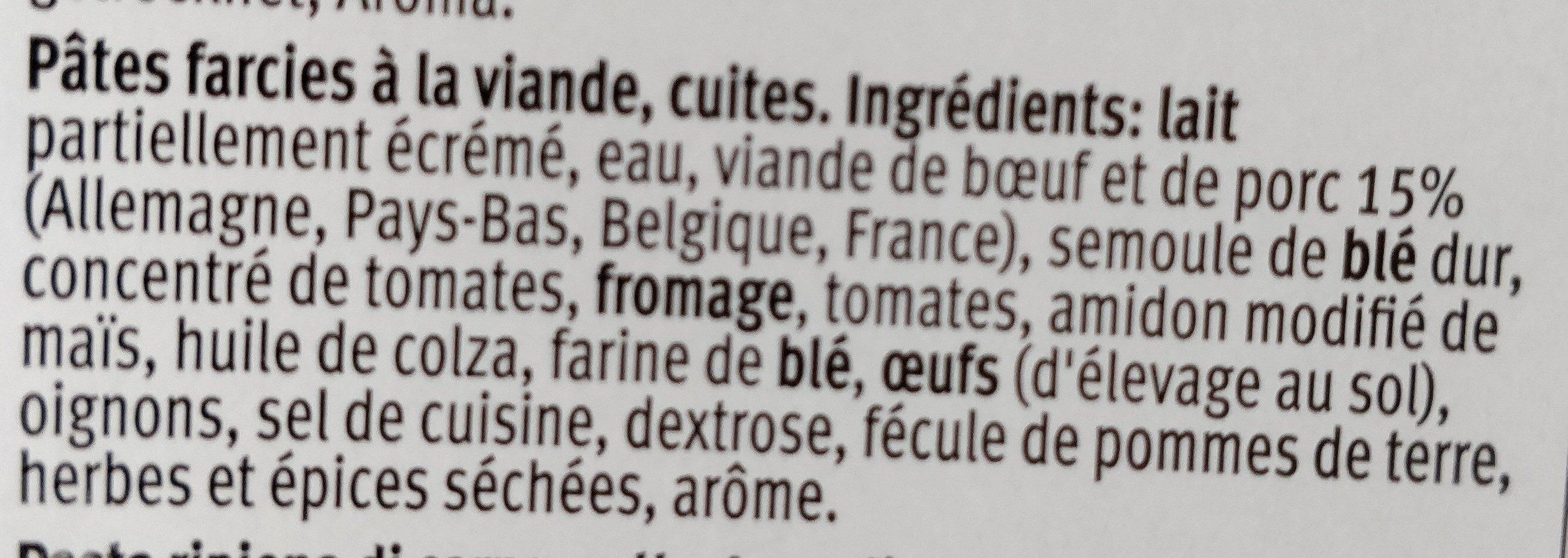 Lasagne Bolognese - Ingredienti - fr