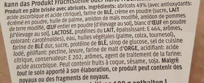 Tarte à l'abricot - Ingrediënten - fr