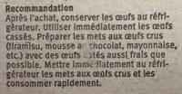 Oeufs bio suisses - Ingredients - fr