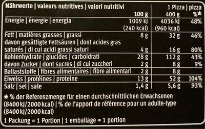 Margherita - Voedingswaarden - fr