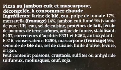 La Pizza al prosciutto cotto e mascarpone - Ingredienti - fr