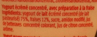 Joghurt Oh! (Erdbeere) - Ingredients