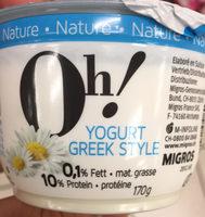 Yogurt Greek Styte Nature - Product