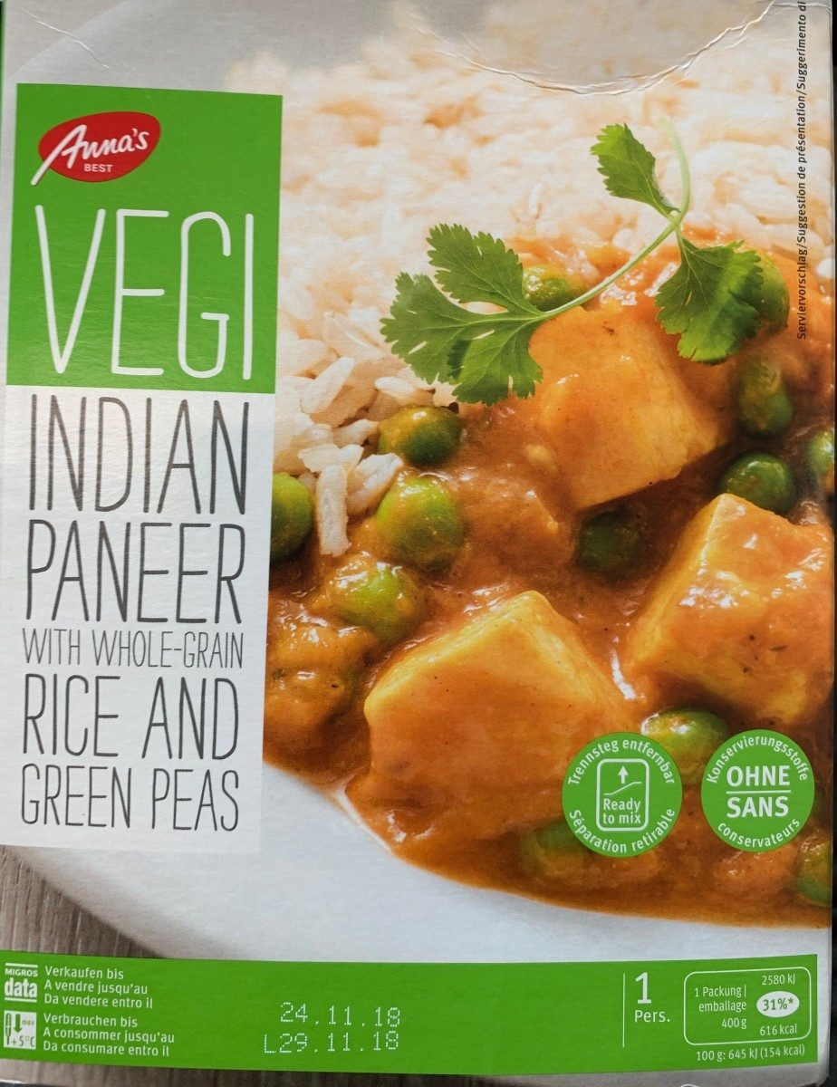Vegi Indian paneer - Product - fr