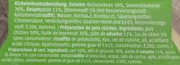 Hummus Nature - Ingredients