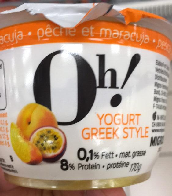 Oh! Yogurt Greek Style Pêche-Maracuja - Product