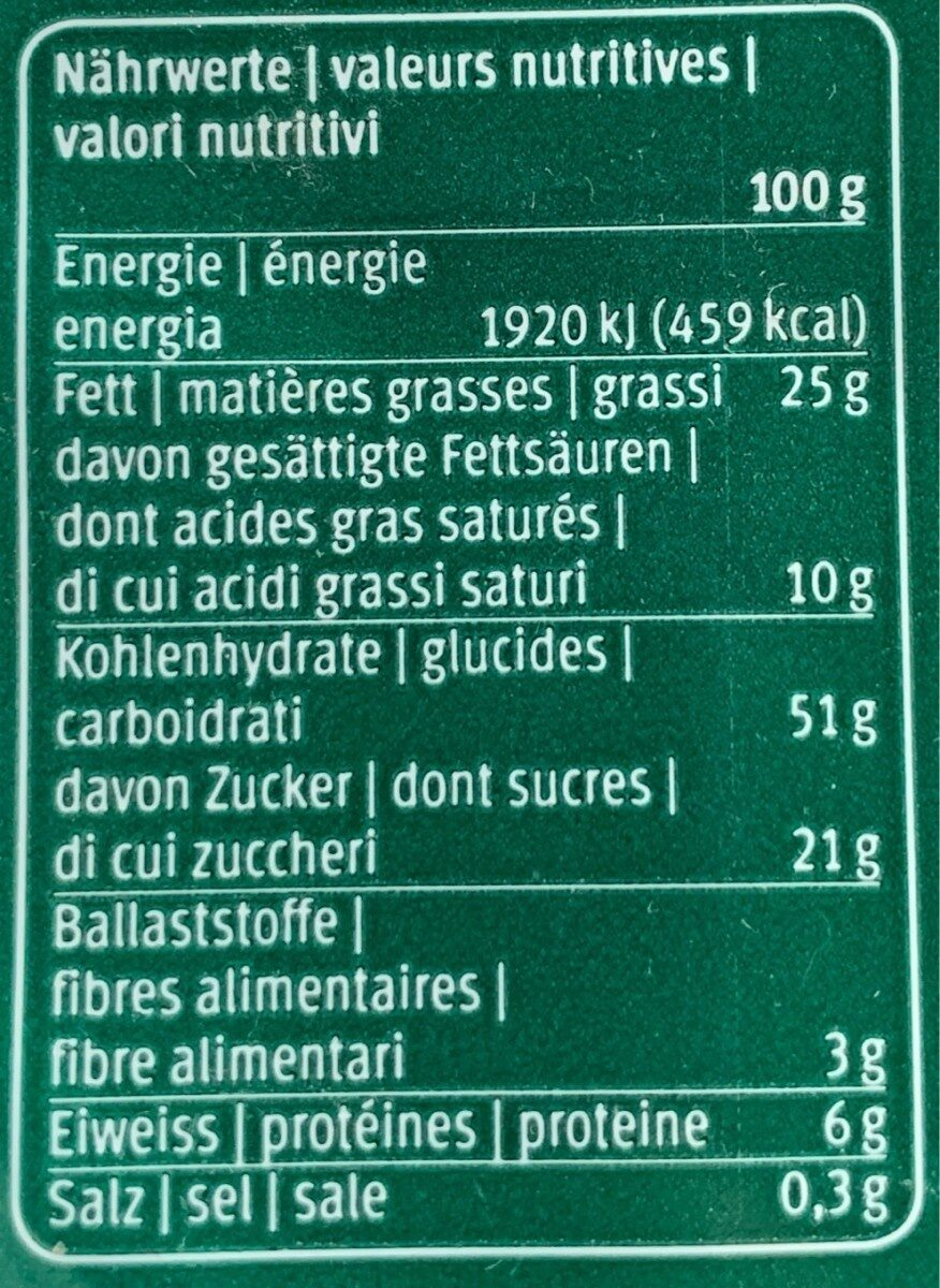 Choc-herzli-teig - Informations nutritionnelles - fr