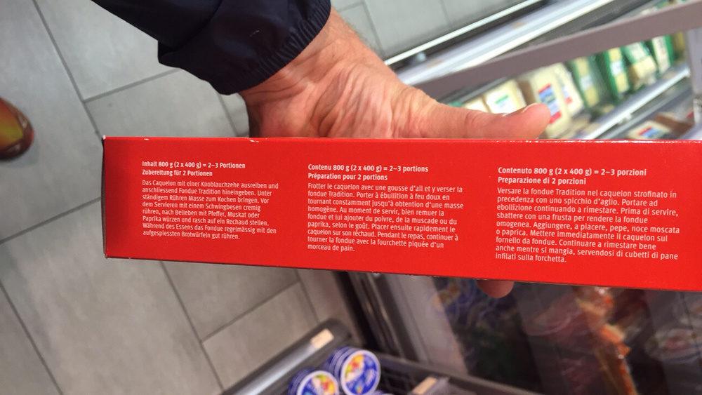 Swiss-Style Fondue - Ingredients