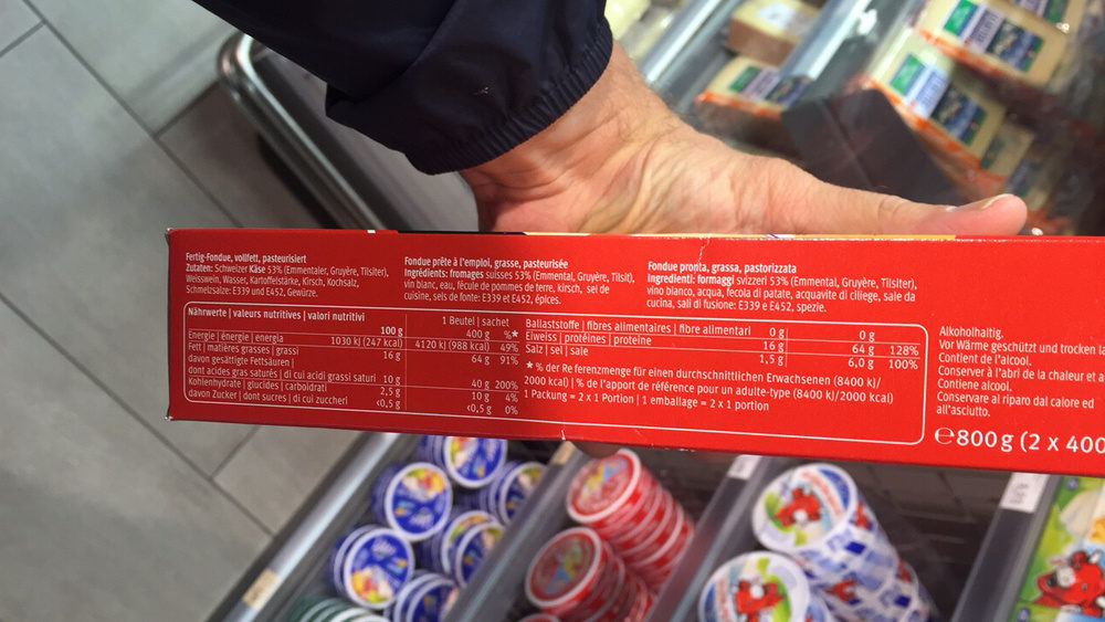 Swiss-Style Fondue - Nutrition facts