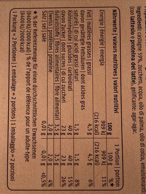 Vermicelles prêts à l'emploi - Voedingswaarden - fr