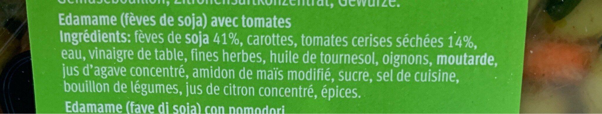 Salade d'édamame aux tomates séchées - Ingredients - fr