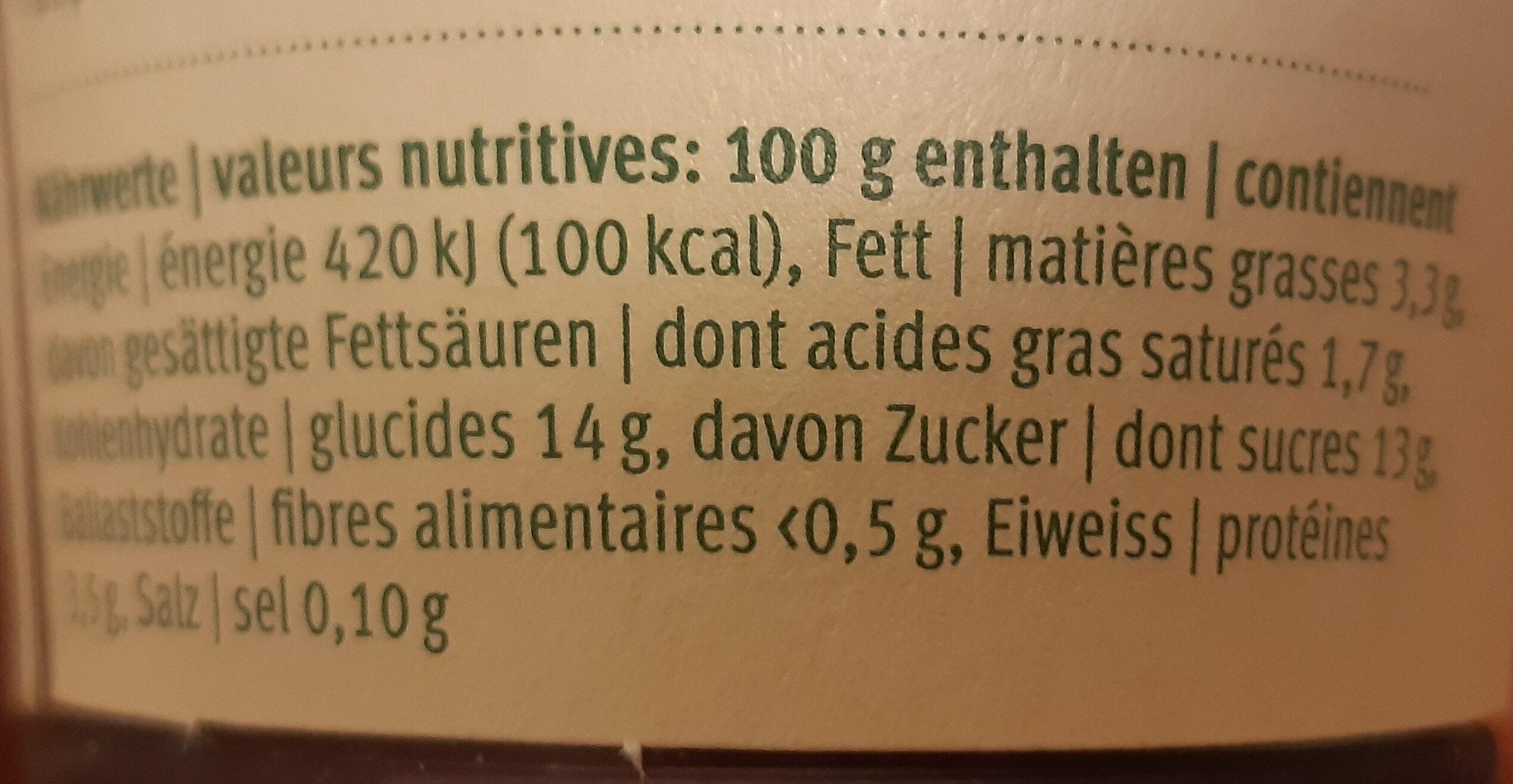 Jogourt cassis - Nutrition facts - de