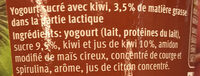 Joghurt Kiwi - Ingredients - fr