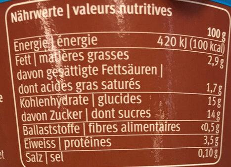 Joghurt Kiwi - Nutrition facts - fr