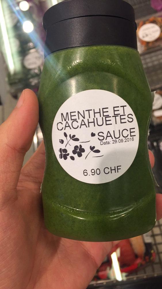 Sauce Menthe et Cacahuètes - Produit - fr