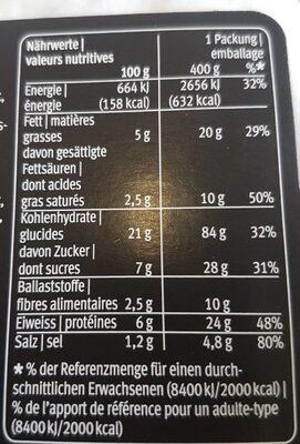Gnocchi alors basilic con pomodorini e mozzarella - Informations nutritionnelles - fr