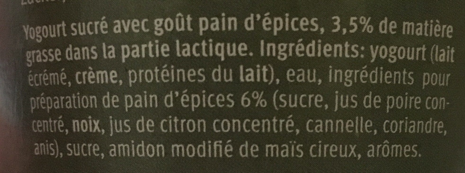 Yaourt saison - Ingrediënten