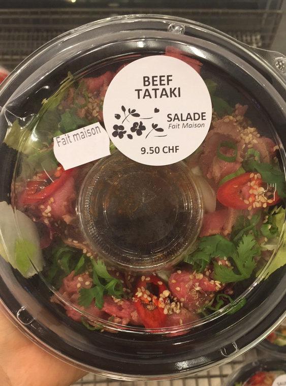 Salade de boeuf tataki - Produit - fr