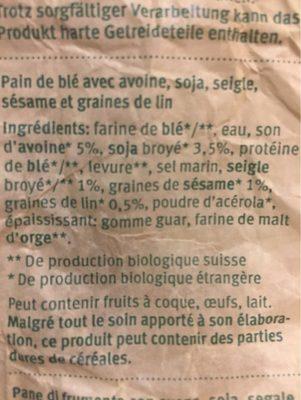 Bio Wellnessbrot - Ingrédients - fr