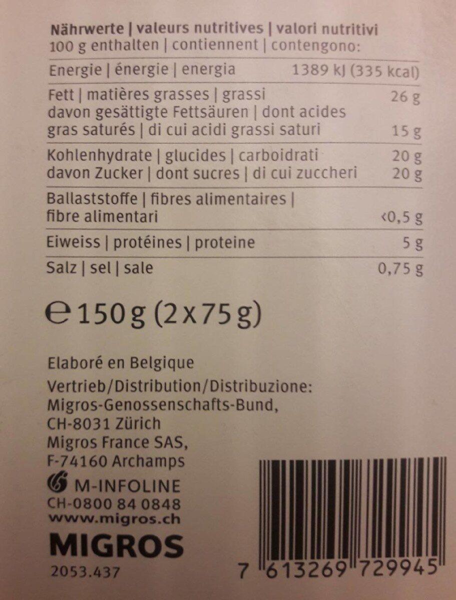 Mousse au café - Migros Sélection - Nutrition facts