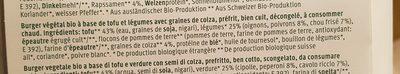 Kale Burger - Ingredients