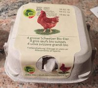 4 gros oeufs bio suisses - Product - fr