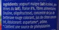 Léger Joghurt Erdbeer Fraise Fragola - Ingredienti - fr