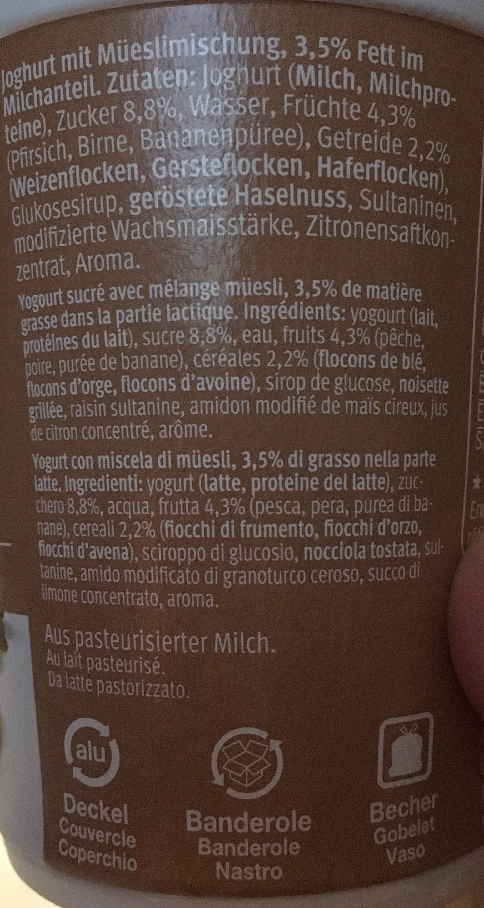 Birchermüesli - Ingrediënten