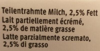 Lait partiellement écrémé Drink UHT - Ingrediënten - fr