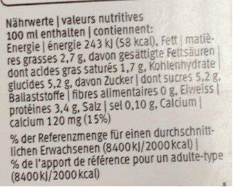 Lait partiellement écrémé Drink UHT - Voedingswaarden - fr