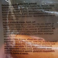 Cervelas - Ingrédients - fr