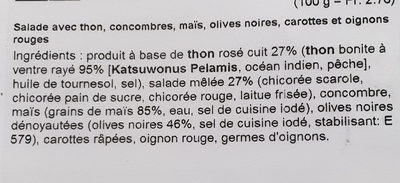 MD Salade de thon - Ingrédients - fr