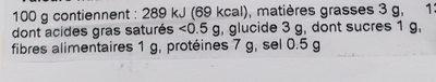 MD Salade de thon - Informations nutritionnelles - fr
