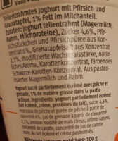 100 cal pêche grenade - Ingrediënten - fr