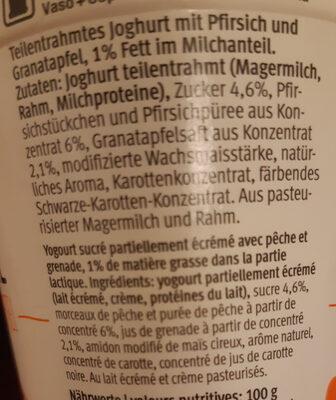 100 cal pêche grenade - Ingredienti - fr