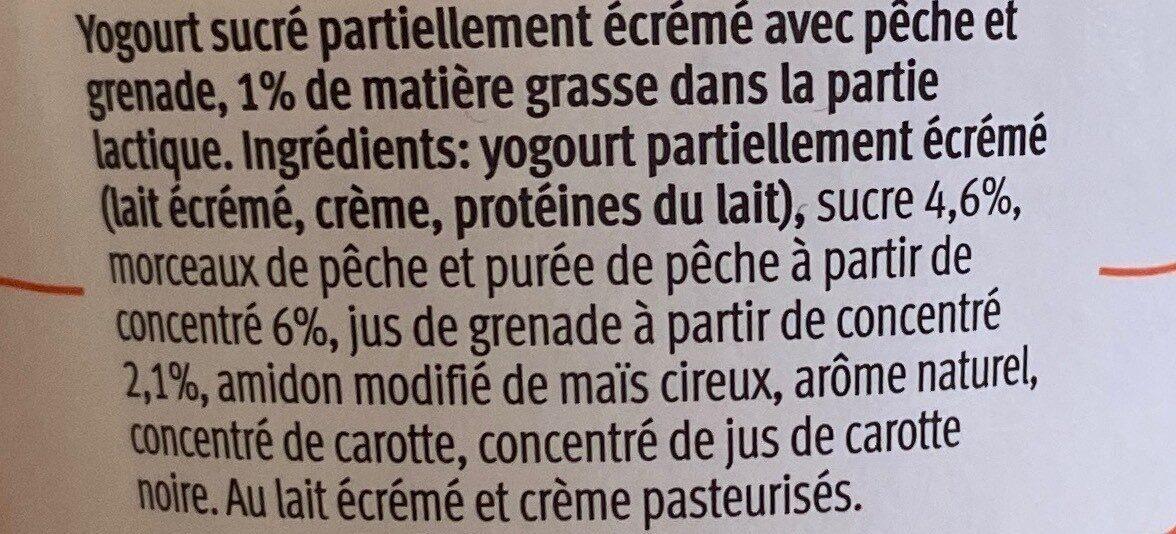 100 cal pêche grenade - Valori nutrizionali - fr
