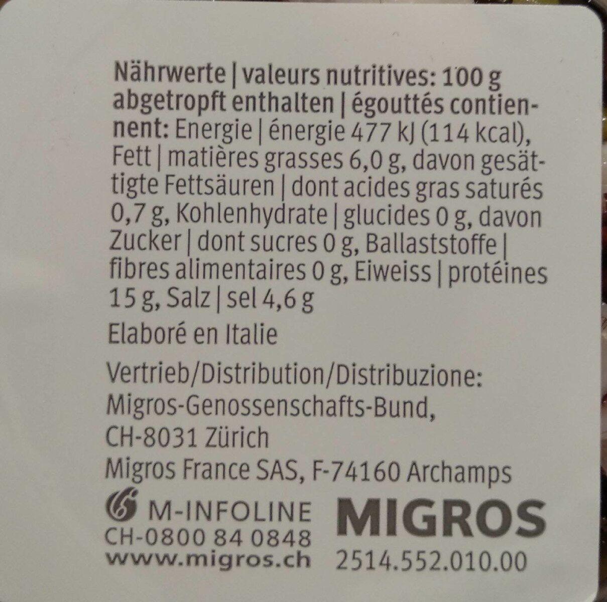 Oktopus-Salat - Informazioni nutrizionali - de