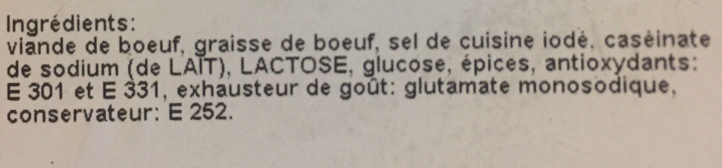 Salami de boeuf - Ingredients - fr