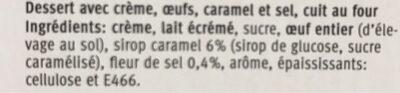 Crème caramel fleur de sel - Ingredients