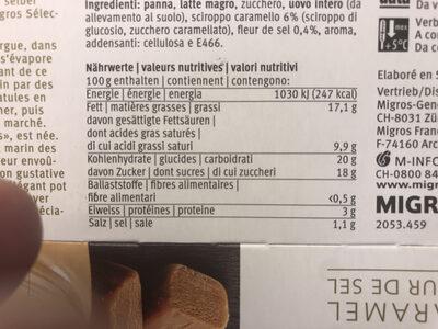 Crème caramel fleur de sel - Nutrition facts