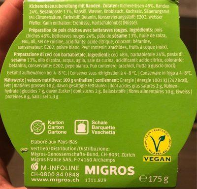 Hummus randen - Ingrediënten