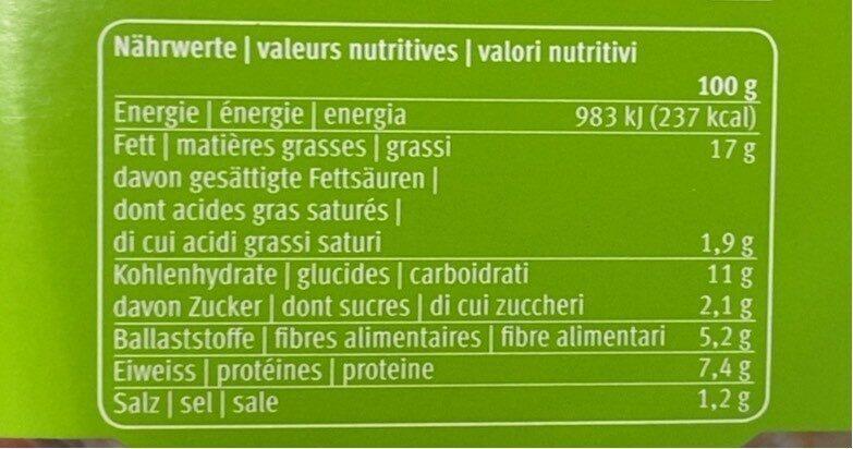 Hummus randen - Voedingswaarden - fr
