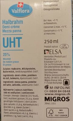 Halbrahm - Valori nutrizionali - fr