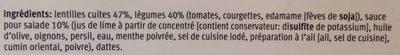 Power Salade - Lentilles - Ingrediënten - fr