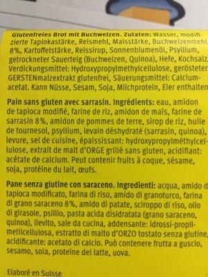 Bauernbrot - Ingrediënten - fr